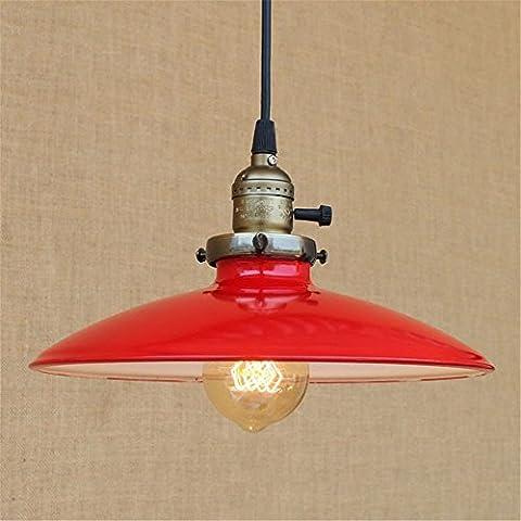 E27 Vintage pendentif lumière parapluie plafonnier rouge industriel rétro lustre chambre à coucher salle de séjour Cafe Bar Mall hôtel resturant garage Hanging Lights intérieur maison Decor éclairage,A