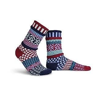 Solmate Socks Damen Sneaker Socken mit Steifen, Sternenbanner Klein