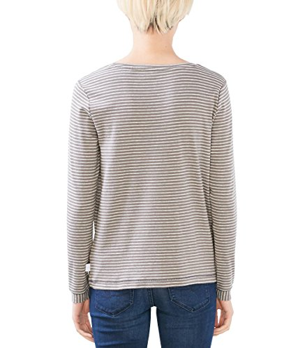 edc by ESPRIT Damen T-Shirt Braun (taupe 5 244)