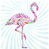 20 Servietten Flamingo – Bunter Flamingo / Tiere / Hawaii 33x33cm