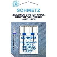 Schmetz ## Lot de 2 aiguilles jumelles stretch 130/705Écart des aiguilles 2,5 mm Taille d'aiguille 75Piston plat Pour machine à coudre