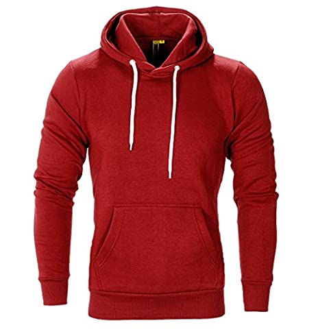 Raiken Apparel Flex Fleece Pullover Hoody (XL, Red)