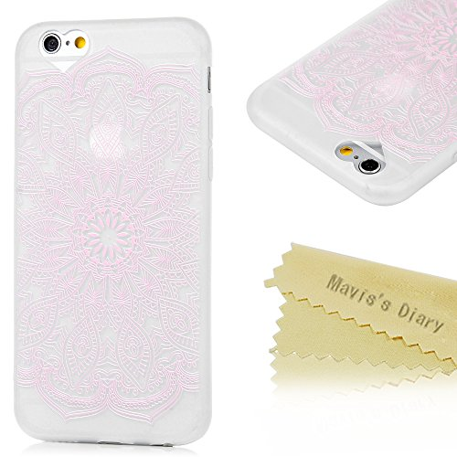 Mavis's Diary Coque iPhone 6 Plus/iPhone 6S Plus TPU Souple Feuille Dessin Coloré Housse de Protection Étui Téléphone Portable Phone Case Cover+Chiffon motif 2