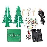 B Blesiya DIY 3D Xmas Tree Electronic Soldering Assemble Kit 7 Color Flashing LED Science School Project Creative Season Gift