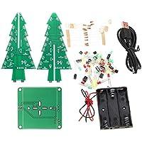 perfk Weihnachtsbaum LED Blitz Blinkender geführter Weihnachtsbaum Elektronische Bausatz