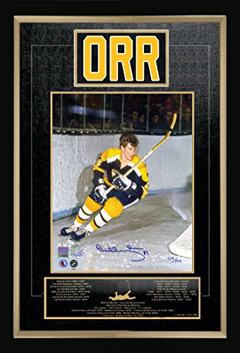 Generic Bobby Orr Career Collectible Namebar Signed Ltd Ed of 144 - Museum Framed -