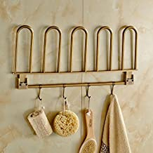 ssby–Porta asciugamani, europeo in ottone massiccio asciugamano rack, antico porta asciugamani, Creative Bagno rack all copper antique