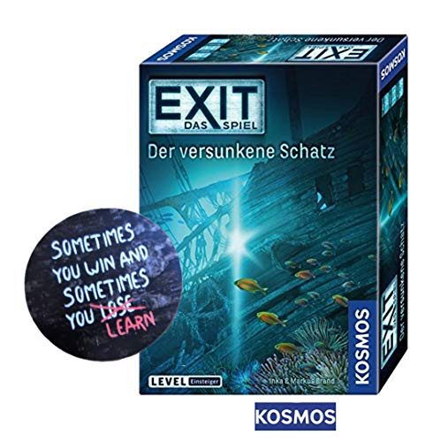 EXIT Kosmos Spiele 694050 Spiel: versunkene Schatz Brettspiel + 1 Cooler Sticker Sometimes You Win.. by Collectix gratis