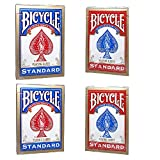 4 Barajas de cartas de la bicicleta (2 x azul rojo y 2 x) 4 Decks of Bicycle Playing Cards (2 x Red...
