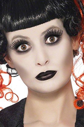 KULTFAKTOR GmbH Gothic Make-up-Set Halloween Weiss-schwarz 9g Einheitsgröße
