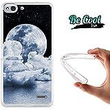 Becool® Fun - Funda Gel Flexible para Vodafone Smart Ultra 6 Carcasa TPU fabricada con la mejor Silicona, protege y se adapta a la perfección a tu Smartphone y con nuestro exclusivo diseño Nubes y luna