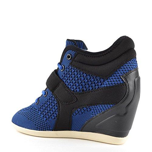 Ash Schuhe Bebop Knit Keil Sneaker Damen Saphir/Schwarz