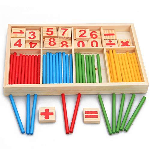 elecfan 2 Stücke Kinder Spielzeug Anzahl Zählen Sticks, Mathematik Teach Vorschule Lernspielzeug Game Box Educational Toys Math Learning