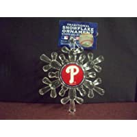 "Philadelphia Phillies MLB Snowflake 4 1/2 "" Ornament"