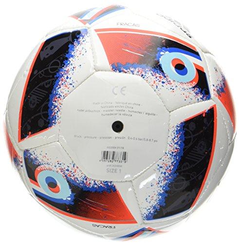 adidas Euro16 Mini Fußball, White/Bright Blue/Solar Red/Silver Metallic, 1
