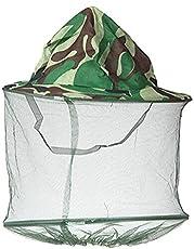 YLLY Bienenzucht-Imker Anti-Moskito-Bienen-Fliegen-Masken-Kappen-Hut mit Hauptnetz-Maschen-Gesichtsschutz-Ausrüstung