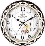 WGDAV Wanduhren Groszlige Kuumlche, 16 Zoll European Mute Wall Clock Fashion Einfache Wohnzimmeruhr Uhr Schlafzimmeruhr mit Pendeluhr, weiszlig