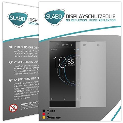 2 x Slabo Bildschirmfolie für Sony Xperia XA1 Ultra Bildschirmschutzfolie Zubehör (verkleinerte Folien, aufgr& der Wölbung des Bildschirms)