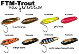 4 FTM Spoon Boogie Spinnköder 1,6g - Forellenblinker - Blinker Set zum Spinnfischen, Blinker für Barsch & Forelle, Forellenköder zum Spinnangeln