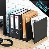 FITUEYES verstellbar Bücherregal Schreibtisch Organizer schwarz Holz DT107701WB