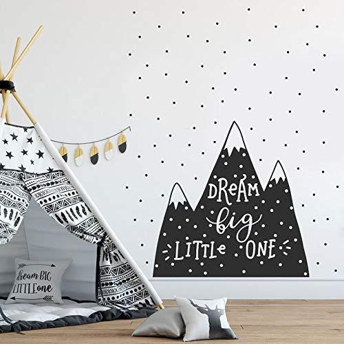 Nordischen Stil niedlichen Berg Aufkleber Zitate Traum Big Little one Kindergarten wandtattoo wandaufkleber für Baby Zimmer DIY Vinyl Deco 42 * 42 cm