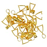Imported 20pcs 14mm Golden Pendant Pinch...