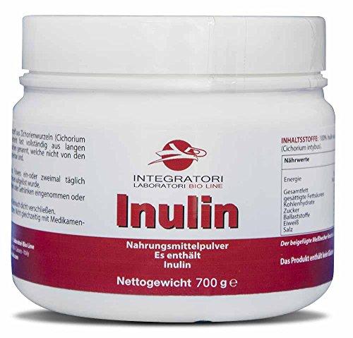 INULIN - Nahrungsmittelpulver Es enthält 100% Inulin aus Zichorienwurzeln (Cichorium intybus) - 700 g