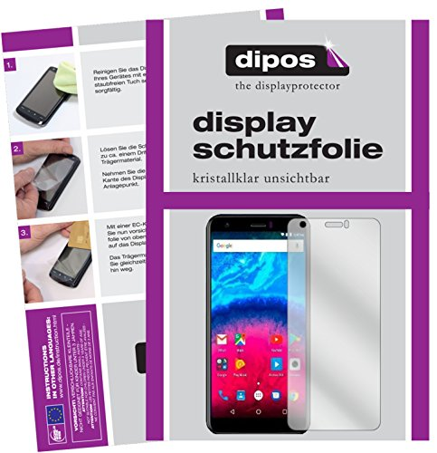 dipos I 2X Schutzfolie klar passend für Archos Core 55S Folie Displayschutzfolie
