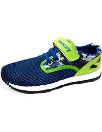 PEANUTS SNOOPY sneakers, scarpette da bimbo mod. 061492 blu-verde (24)