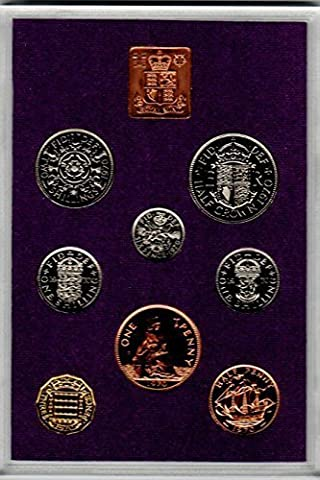 1970 Proof British Set complete with information leaflet and outer packing. Highly Collectible Set of British Coins, Excellent Condition, but PLEASE NOTE there is toning to the copper coins to the Penny and Halfpenny Souvenir / Speicher / Memoria! Pre-Decimalisation Mint Condition British Coin Set! What a Find, a Piece of British History! Collectible Coins from Britain.