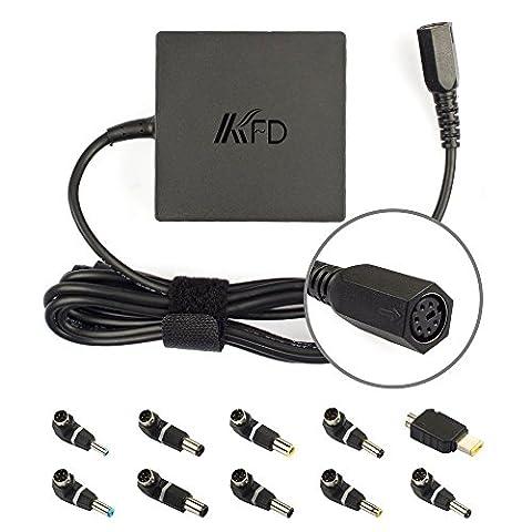 KFD Universal Netzteil Laptop Ladegerät 90W 19V 4,74A Ladekabel für Samsung Lenovo Toshiba Liteon Fujitsu Acer Asus Delta Sony Dell HP Gateway Notebooks und Tablets Stromversorgung inkl. 10