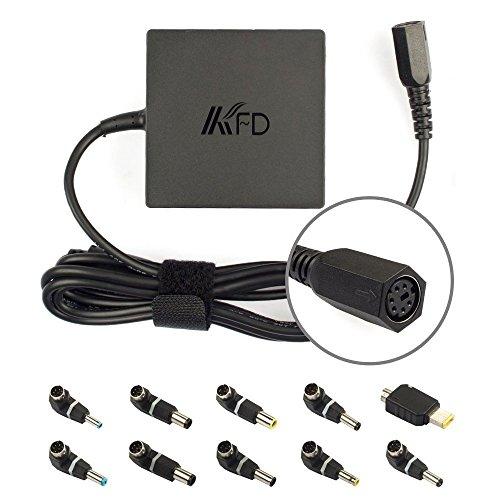 KFD Universal Netzteil Laptop Ladegerät 90W 19V 4,74A Ladekabel für Samsung Lenovo Toshiba Liteon Fujitsu Acer Asus Delta Sony Dell HP Gateway Notebooks und Tablets Stromversorgung inkl. 10 stecker