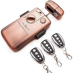 NUEVA Cerradura electronica INTELIGENTE invisible con 3 mandos. Color bronce. Fabricada por SELOCKEY.