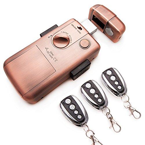 Cerradura electrónica inteligente invisible con 3 mandos para evitar