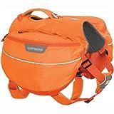 Ruffwear Wander-Rucksack für Hunde, Mittelgroße Hunderassen, Größenverstellbar, Größe: M, Orange (Orange Poppy), Approach Pack, 50102-801M