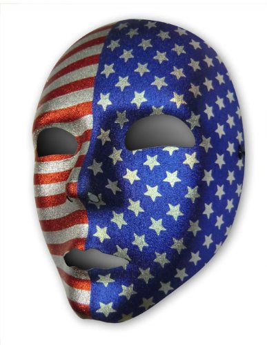 Masken Maskerade Extravagante (Stars and Stripes Maske)