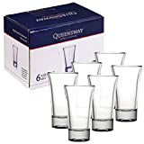 Queensway, bicchierini da 60 ml, ideali per whisky, tequila, vodka e altri distillati, 6 Shot Glasses
