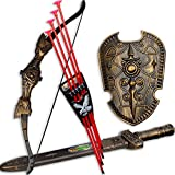 #10: Babytintin™ Bahubali Warrior Set - Knights Fancy Dress Kids Cosplay - Bow Archery , King's Sword & Shield (multi color)