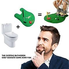 Idea Regalo - Oriental elife WC Golf, Mat Potty Putter Toilet Time Golf Novità Divertente Set Sport Game Bagno Mini Golf Training - Great Gag Gift