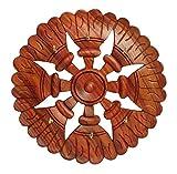 #9: RGRANDSONS Handmade Wooden Key Hanger Holder Wall Decor Wheel Cutter Round 7 Inch