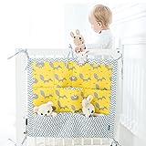 Kinderzimmer Kinderbett Windel Organizer, Aufhängung Spielbett für Babys Spielzeug Windel Caddy Aufbewahrung für Neugeborene Baby Kinderbett Essentials MULTILAYER Tasche