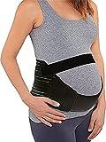 Ruiying Damen Maternity Schwangerschafts Gurt Stützgürtel Bauchband Bauchstütze Umstandsgürtel Baby Safe Belt (M, Schwarz)