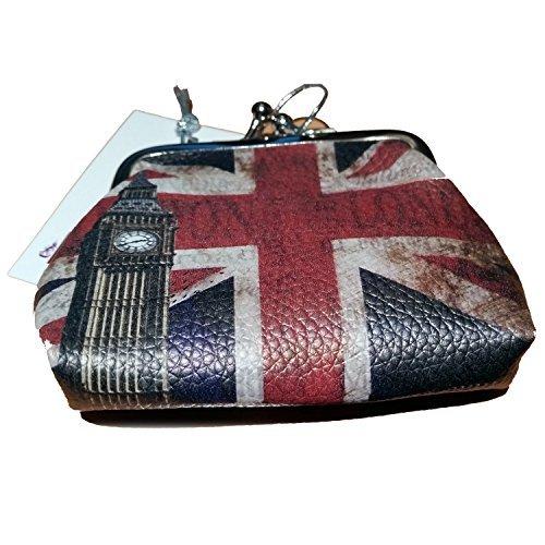 Porte-monnaie souvenir vintage Motif Londres et drapeau du Royaume-Uni