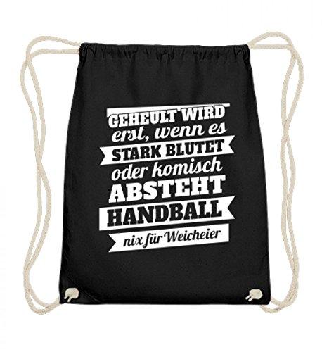 Handball – Nix für Weicheier – Cooles Motiv von Shirtee hochwertigen Baumwoll Gymsac