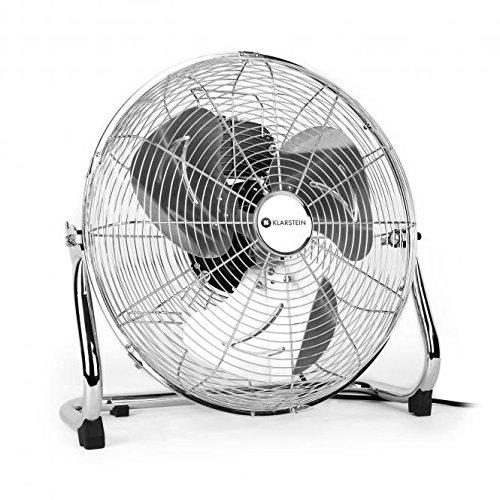 """Klarstein Metal Blizzard ventilatore da terra (41 CM (16\""""), 100 Watt, 3 livelli di velocitá, inclinabile, lame in acciaio INOX) color argento"""