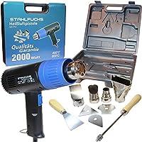 Stahlfuchs – Pistola de aire caliente con maletín y accesorios, 2000W, 2niveles 400 - 600°C