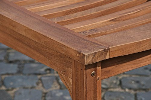 CLP Teakholz Garten-Bank HAVANA V2 ohne Lehne, Teak-Holz massiv (bis zu 8 Größen wählbar) 160 x 45 x 45 cm - 6