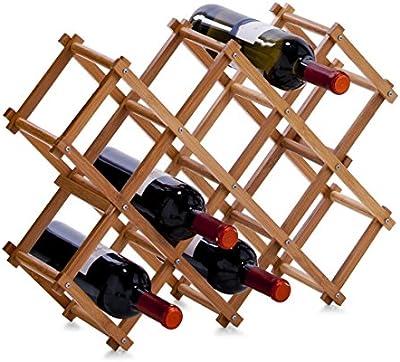 Zeller 13567 - Botellero de bambú (54 x 14,5 x 38 cm)