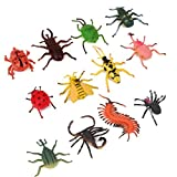 Sungpunet 12 PCS Assorted Color AndAssorted Mini Insect Bug Figures-Plastic