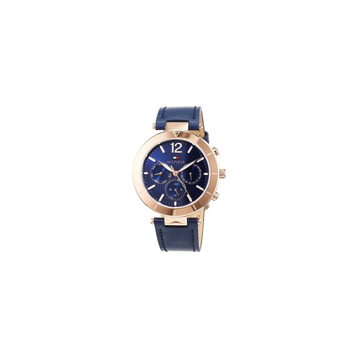 51ihtMqXSyL. SS1200  - Tommy Hilfiger Reloj Multiesfera para Mujer de Cuarzo con Correa en Cuero 1781881